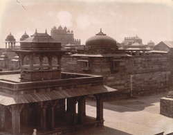 General view from the Panch Mahal, looking south-west towards the Buland Darwaza, Fatehpur Sikri